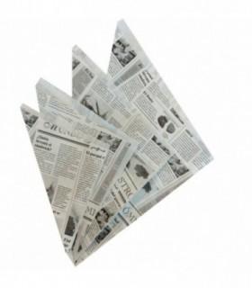 Cono papel periódico para fritos 15 x 14,5 x 49,5 cm